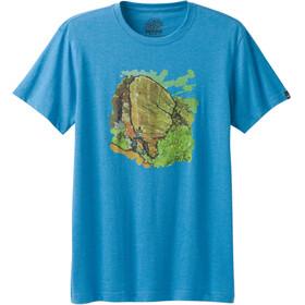 Prana Redlands Slim T-Shirt Herre vortex blue
